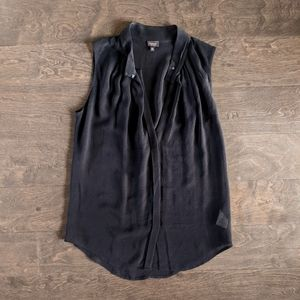Babaton Black Silk Sleeveless Blouse